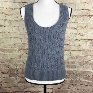 Ann Taylor Loft Gray Sweater Tank Top Size M